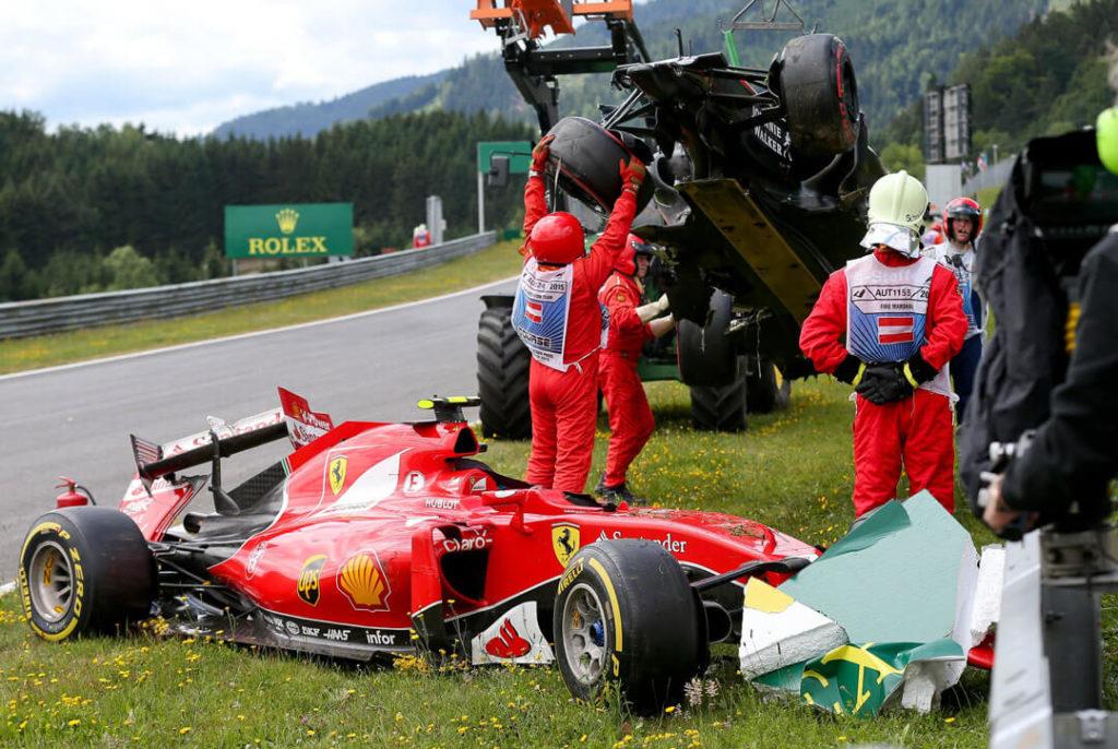 حادث سيارة فيراري فورمولا 1