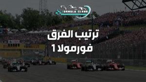 ترتيب الفرق فورمولا 1