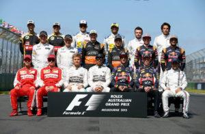 صورة جماعية لسائقي الفورمولا 1 موسم 2015
