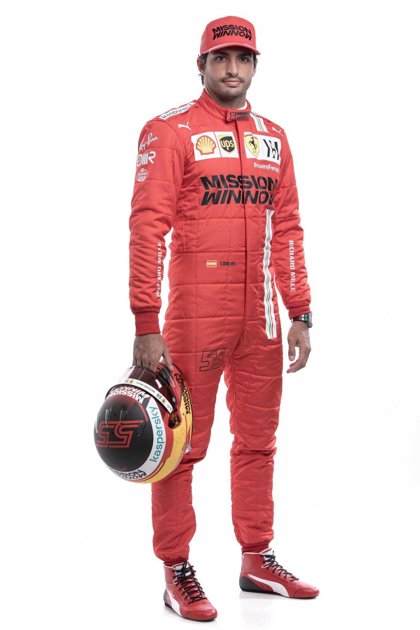 كارلوس ساينز سائق فريق فيراري