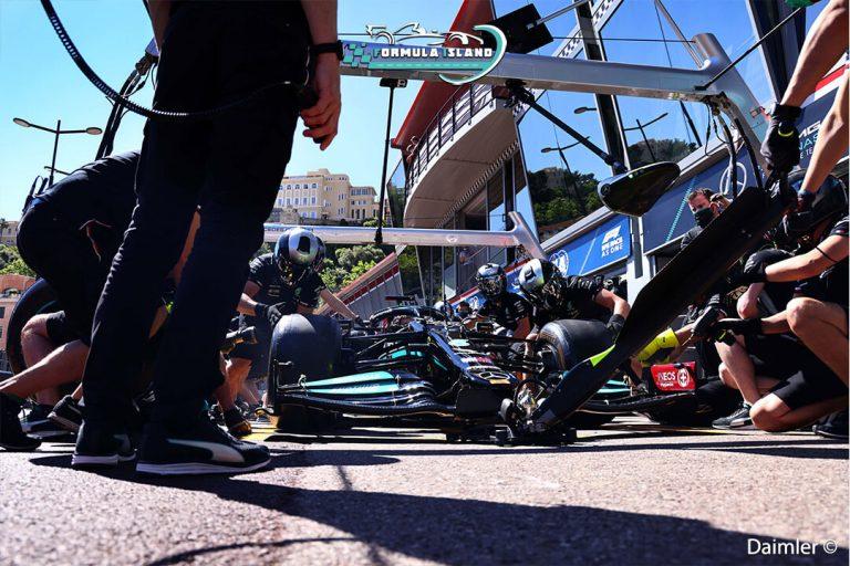 توقف فريق مرسيدس فورمولا 1